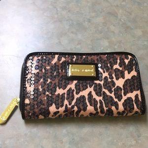 Betsey Johnson leopard printed wallet.
